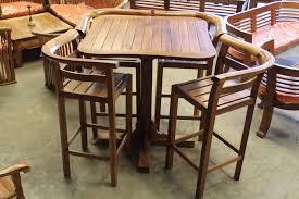 Ensemble table haute et ses 4 chaises – IDMR