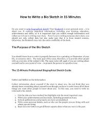 Personal Biography Essay Examples Under Fontanacountryinn Com