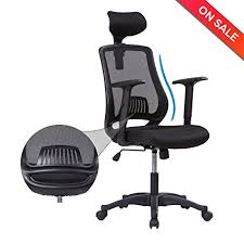 ergonomic office chairs with lumbar support. Interesting Lumbar LONGEM Ergonomic Office Chair High Back Mesh Computer Desk Chair With  Adjustable Headrest And Armrests Intended Chairs With Lumbar Support Amazoncom