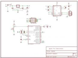 beginning embedded electronics 4 sparkfun electronics atmega8 power supply and max232 circuit eagle schematic pdf