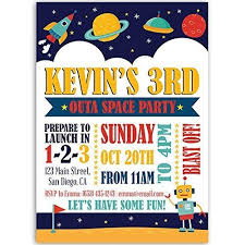 Space Party Invitation Amazon Com Outa Space Rocket Birthday Party Invitations