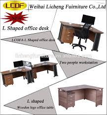 shaped office table. modern design melamine board office deskl shaped table wooden legs o