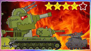 Chơi game bắn xe tăng Quái vật - Trận đấu Кв-6 vs Leviathan #17 | Phim hoạt  hình về xe tăng