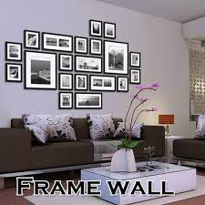 office wall frames. 20pcs Black Picture Photo Frames Wall Set Home Office Creative Decor