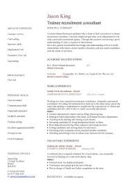 recruitment consultant cv trainee recruitment consultant cv sample recruitment agencies