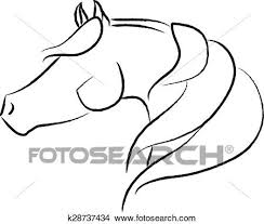 arabian horse head clipart. Beautiful Clipart Clipart  Arabian Horse Head Design Fotosearch Search Clip Art  Illustration Murals To
