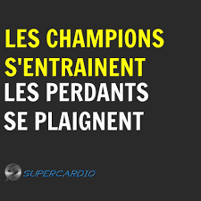 Champions Entrainement Citation Motivation Supercardio Succès