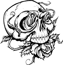 Small Picture Tattoo coloring pages rose and skull ColoringStar