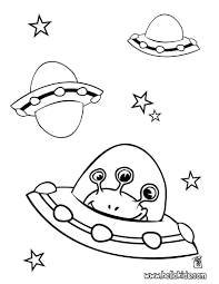 Small Picture Alien In Spaceship Coloring Pages With Coloring Page glumme