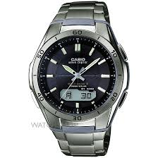 men s casio waveceptor titanium alarm chronograph watch wva mens casio waveceptor titanium alarm chronograph watch wva m640td 1aer