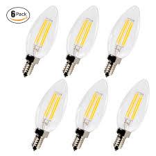 E12 400 Lumen Light Bulb Us 35 99 6pcs Pack Dimmable E12 Led Bulb 4w 120v C35 Chandelier Light Bulbs Super Warm 400 Lumens 2700k 360 Degree Candelabra Led Light In Led Bulbs