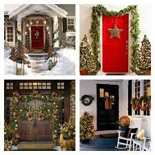 Photo Decorations Porte Du0027entrée De Noel