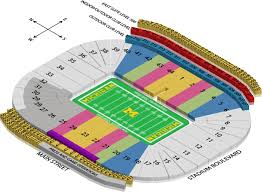 Michigan Stadium Seating Chart Row Numbers The University Of Michigan Online Ticket Office Online