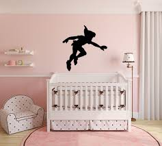 peter pan wall decal vinyl sticker disney shadow character art silhouette for kids playroom