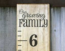 Vinyl Growth Chart Details About Diy Vinyl Growth Chart Ruler Decal Kit Large Style Our Growing Family