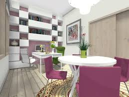 home office room design. RoomSketcher-Home-Office-Ideas-Splash-of-Color Home Office Room Design