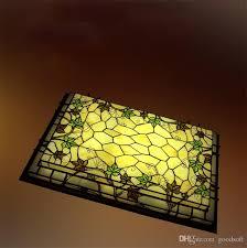 tiffany stained glass ceiling lamp classic rectangle led gvine ceiling lamp living room bar corridor lightings