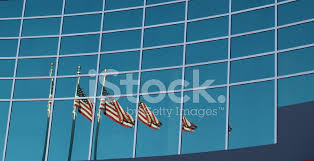 American Flag Office Building Reflection Stock Photos Freeimages Com