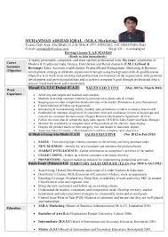 Sales Marketing Cv Muhammad Arshad Iqbal C V Updated M B A Sales Marketing Pdf