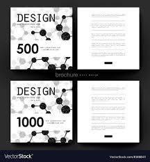 Dna Molecule Brochure Template Flyer Vector Image On Vectorstock