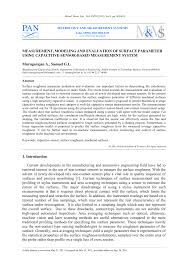 Pdf Measurement Modeling And Evaluation Of Surface