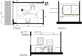 office room plan. Plans And Sections Of The Test Office Room In Brisbane, Australia Plan