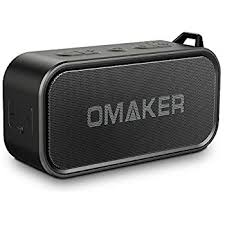 portable outdoor speakers. omaker m6 portable bluetooth speakers for outdoor, waterproof wireless speaker with dual-driver, outdoor