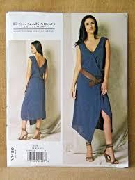 Designer Sewing Patterns Unique V48 Vogue Sewing Pattern DESIGNER Donna Karan Misses' Wrap Dress