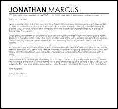 Pastry Cook Cover Letter Sample Cover Letter Templates Examples