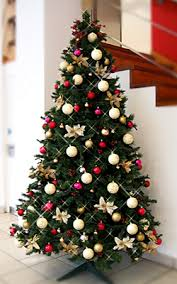 Cream and gold christmas tree colour scheme