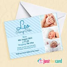 Baby Boy Thank You Cards Personalised Baby Boy Thank You Cards With Your Photo