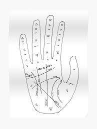 Palmistry Chart Illustration Poster