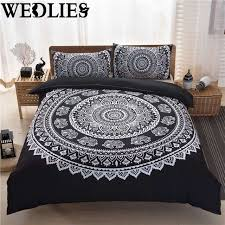 3pcs set indian mandala bedding set polyester king size pillowcases quilt cover home bedroom bedding