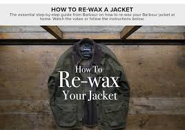 how to re wax a jacket
