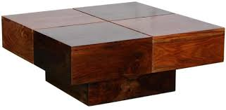 coffee table woodsworth eros square large solid wood coffee table in dualtone finish solid wood
