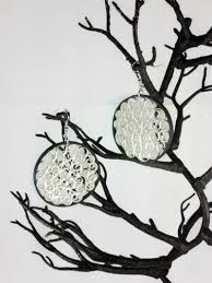 Black and White Filigree Earrings Large | Sweethearts and Crafts