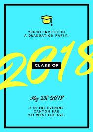 Class Party Invitation Class Graduation Party Invitation Portrait Templates By Canva