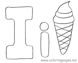 Small Picture Letter I Coloring Pages Preschool Crafts