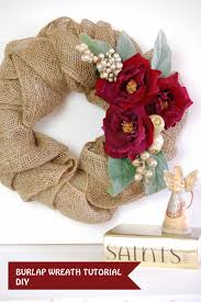 Christmas Paper Flower Wreath Burlap Christmas Wreath Tutorial Handmade Paper Flowers By Maria Noble