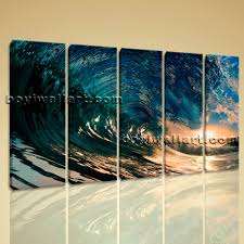amazing surf wall art big canva print h d ocean wave sunset contemporary home decor sticker uk artemide black and white surfboard light sconce