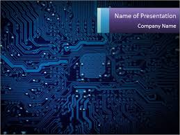 Powerpoint Circuit Theme Circuit Board Powerpoint Template Infographics Slides
