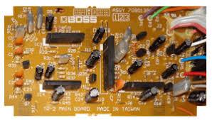 boss tr 2 tremolo pedal schematic diagram boss tr 2 tremolo pedal board component side