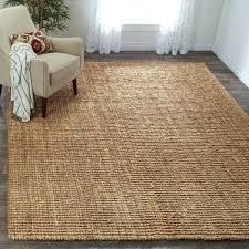 casual natural fiber hand woven accents chunky thick jute rug 9 9x12 persian for