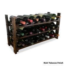 21 bottle maple countertop wine rack