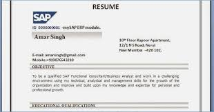Pp Resume Sap Sap Support Resume Example