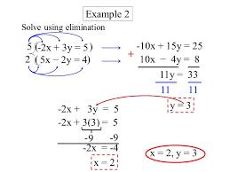 4 solve using elimination