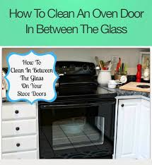 how to clean between the glass on the oven door