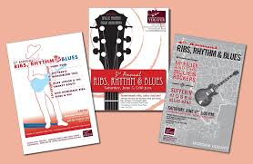 portfolio promotional fliers for ribs rhythm and blues music festival chesterhill ohio