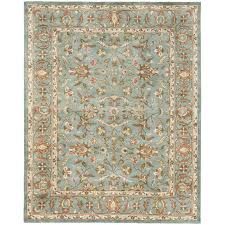 safavieh heritage 11 x 17 hand tufted wool pile rug in blue and blue