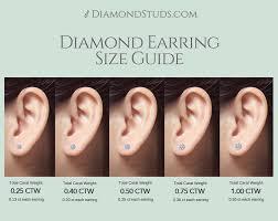 Diamond Stud Size Chart Best Size For Diamond Stud Earrings The Best Produck Of